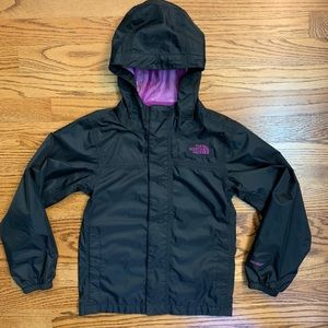North Face rain jacket with hood 7/8